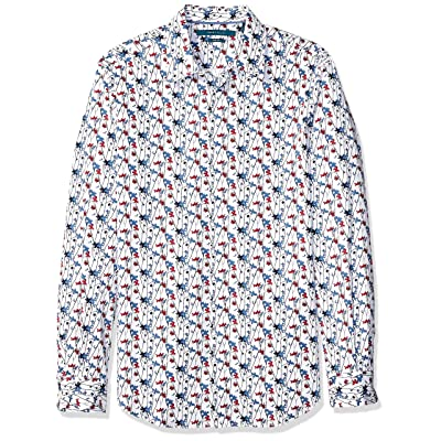 Perry Ellis Men's Printed Floral Stretch Shirt at Men's Clothing store