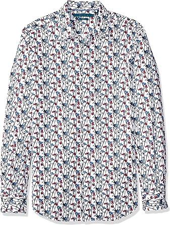 Perry Ellis Camisa elástica estampada floral para hombre: Amazon.es: Ropa y accesorios