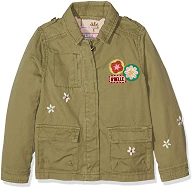 3a4d606a51373 Scotch   Soda R Belle Mädchen Jacke Worker Jacket with Embroideries    Badges, Braun