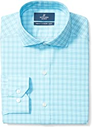 BUTTONED DOWN Men's Tailored Fit Non-Iron Dress Shirt (Discontinued Patterns)