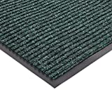 """NoTrax 109 Brush Step Entrance Mat, for Lobbies and Indoor Entranceways, 4' Width x 6' Length x 3/8"""" Thickness, Hunter Green"""