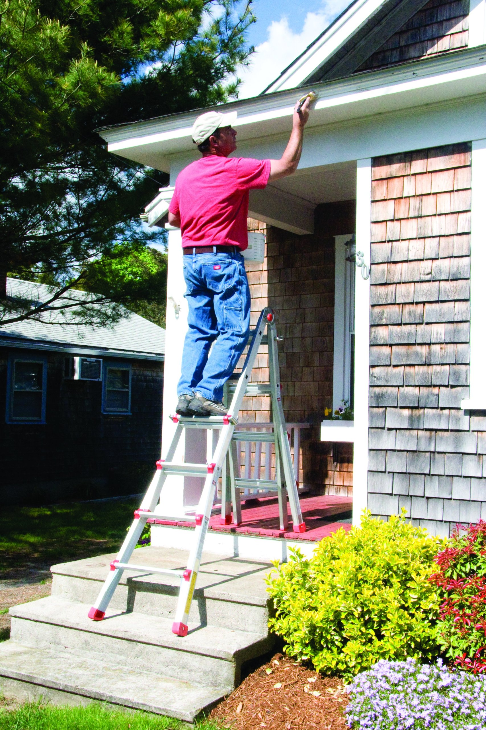 Vulcan Ladder USA 3600735401986540 Stepladder Multi-Task Alu 17Ft 17' MT by Vulcan Ladder USA (Image #6)