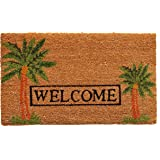 """Home & More 120521729 Palm Welcome Doormat, 17"""" x 29"""" x 0.60"""", Multicolor"""