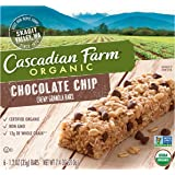 Cascadian Farm Chewy Granola Bar Organic non-GMO Chocolate Chip 6  Bars