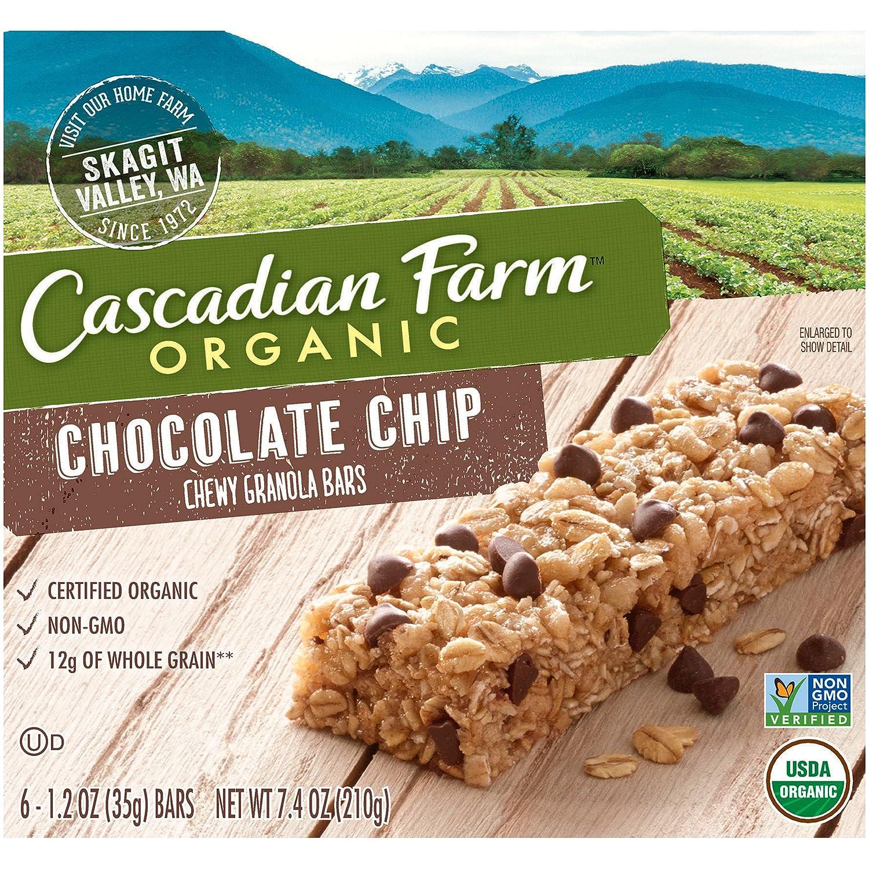 Amazon.com: Cascadian Farm, Organic Chewy Granola Bar, Chocolate ...