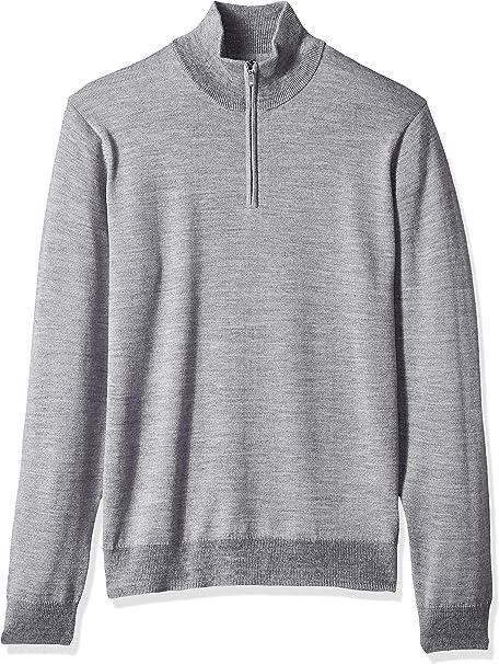 in lana merino con cerniera 1//4 Marchio maglione da uomo Goodthreads