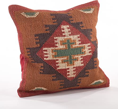 Fennco Styles Home D cor Kilim Collection Down Filled Decorative Throw Pillow – 20 Square Geometric