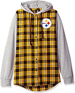 3012d771d Pittsburgh Steelers Lightweight Flannel Hooded Jacket - Womens Medium