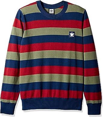 presupuesto En lo que respecta a las personas recinto  adidas Originals Men's Skateboarding Striped Sweater at Amazon Men's  Clothing store