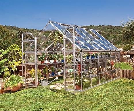 Palram - Invernadero de aluminio para jardín (366 x 243 x 231 cm): Amazon.es: Jardín