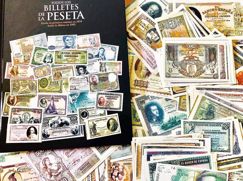 159 billetes de peseta emitidos en una reproducción fiel y restaurad. Colección Todos los billetes de la peseta.: Amazon.es: Juguetes y juegos