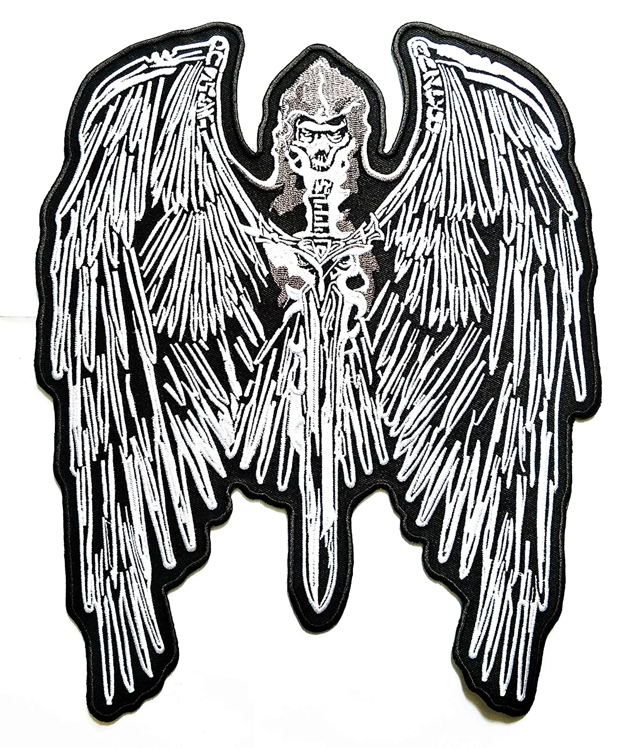 8.5'' X 10.5'' Big Jumbo Eagle Hawk Rider Skull Motorcycles Biker Patch Logo Jacket t-Shirt Jeans Polo Patch Iron on Embroidered Logo Motorcycle Rider Biker Patch by Tour les jours Shop