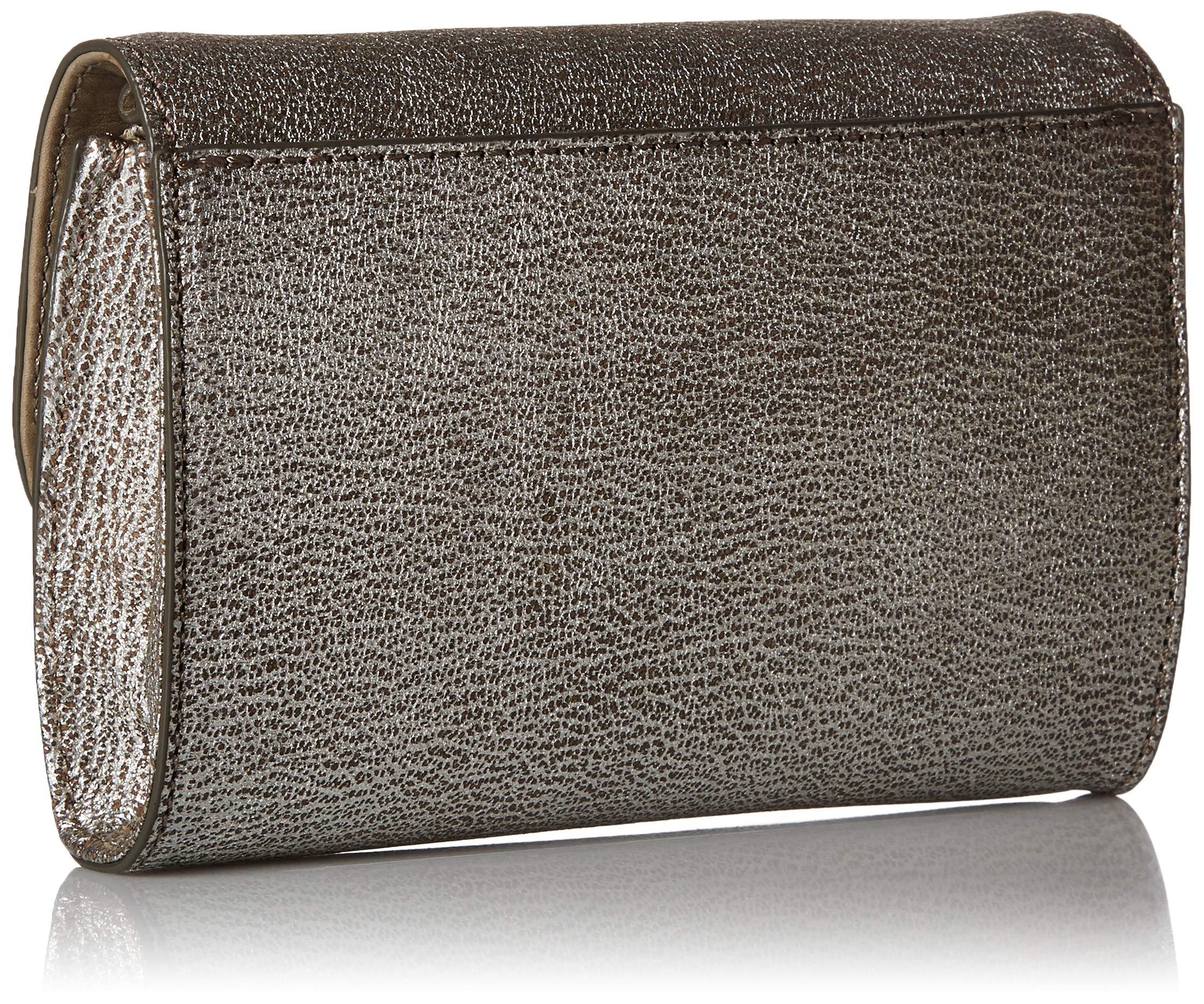 FRYE Melissa Wallet Crossbody Clutch Leather Bag, silver by FRYE (Image #2)