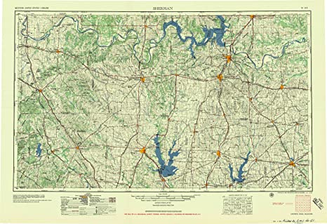 Amazon.com : YellowMaps Sherman TX topo map, 1:250000 Scale ... on topographical map of north texas, printable map of texas hill country, topographical map of texas panhandle, topographical map of east texas, photographs of texas hill country, topographical map of west texas,