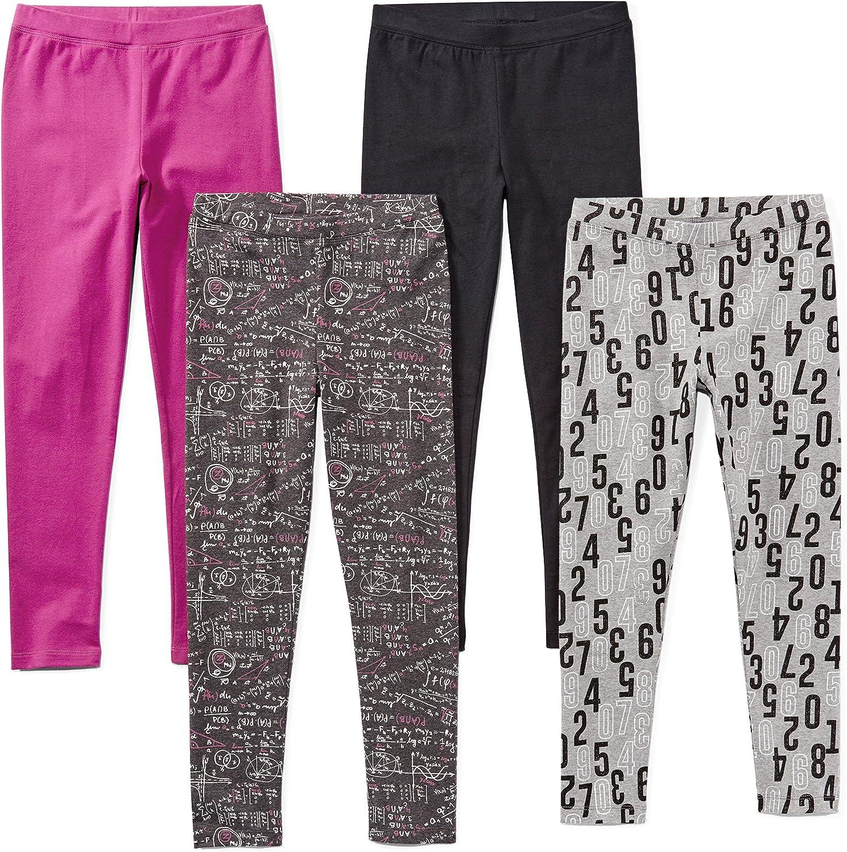 Pack of 4 Brand 6-7 Math Small Spotted Zebra Leggings