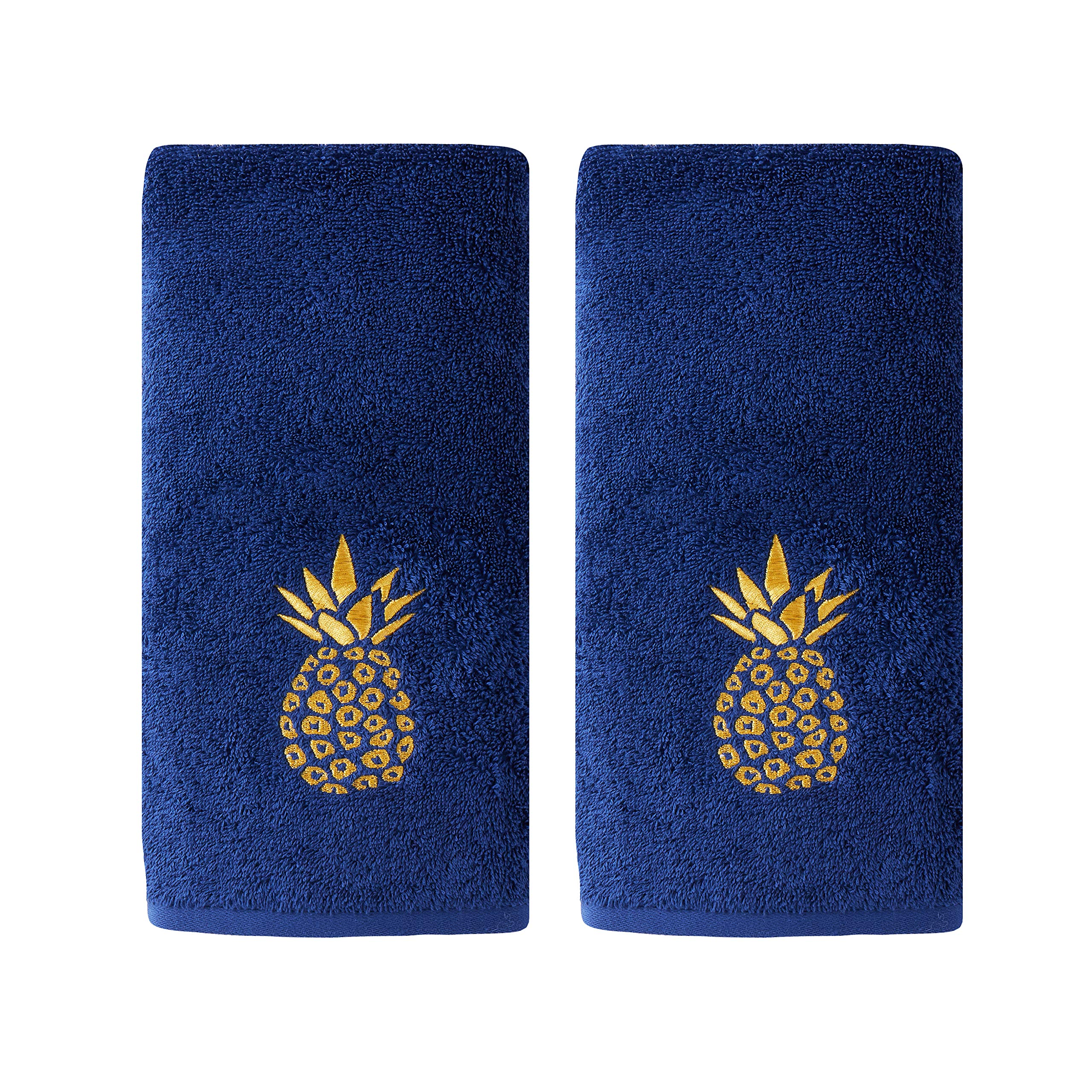 SKL Home by Saturday Knight Ltd. Gilded Pineapple Hand Towel, Navy