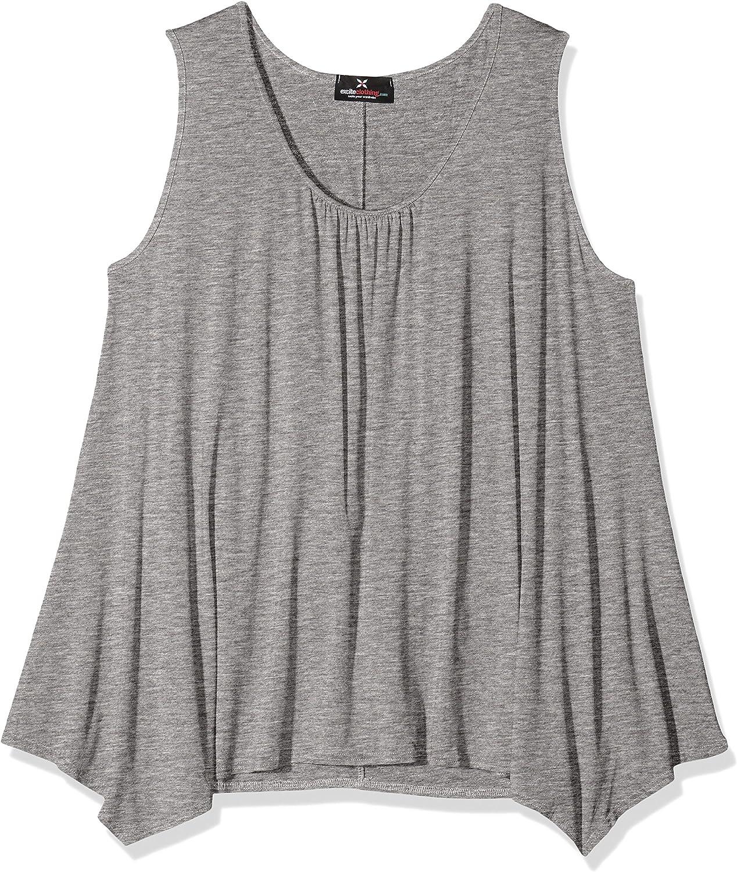 NEW Size 16 Black Blue /& White Striped Hanky Hem Tunic Top Blouse