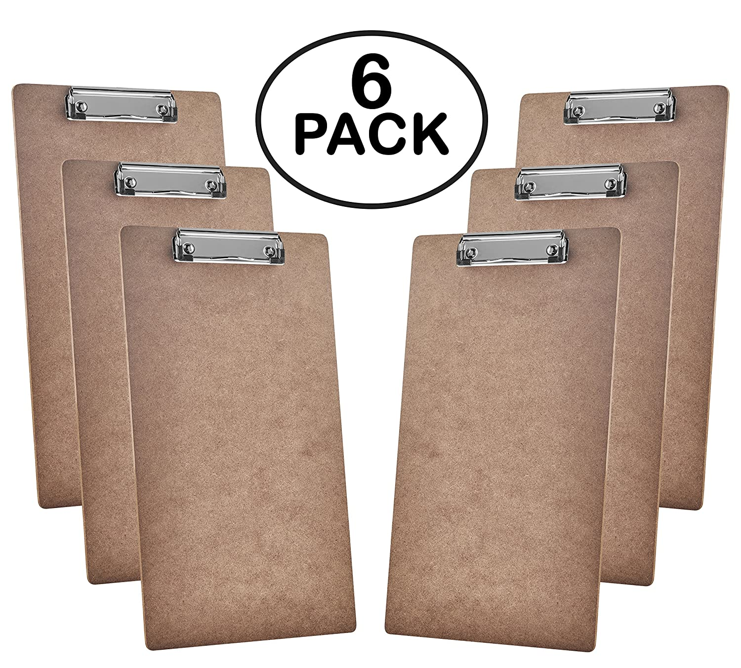 Acrimet Clipboard Legal Size Wire Clip (Hardboard) (6 Pack) 113.1