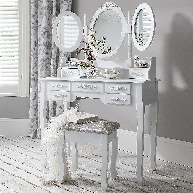 Laura James Monaco da toeletta, sgabello e specchio, 7cassetti, 3specchi AGTC Ltd