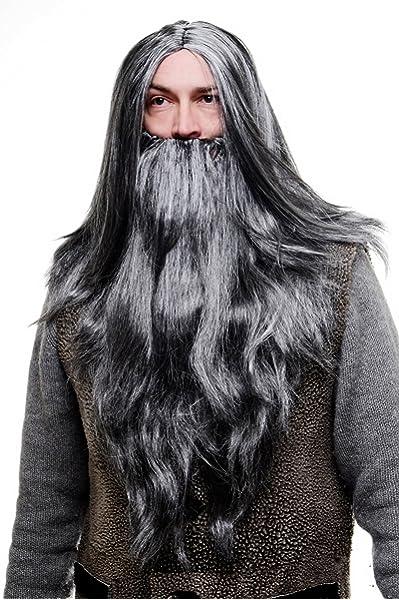 Gandalf Lord of the Rings beard and wig for men. (peluca ...