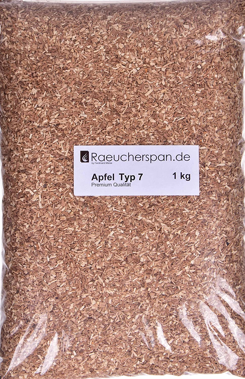 Räucherspäne Räuchermehl Apfel Apfelholz Typ 7, universell verwendbar, mild im Geschmack,1kg
