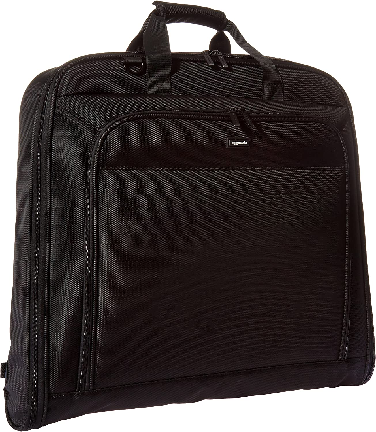 AmazonBasics Premium Travel Hanging Luggage Suit Garment Bag, 21.1 Inch, Black