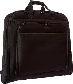 AmazonBasics Premium Travel Hanging Luggage Suit Garment Bag, 21.1 Inch, Black
