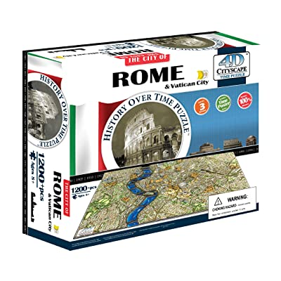 4D Cityscape Rome and Vatican City Time Puzzle: 4DCityscapeInc: Toys & Games