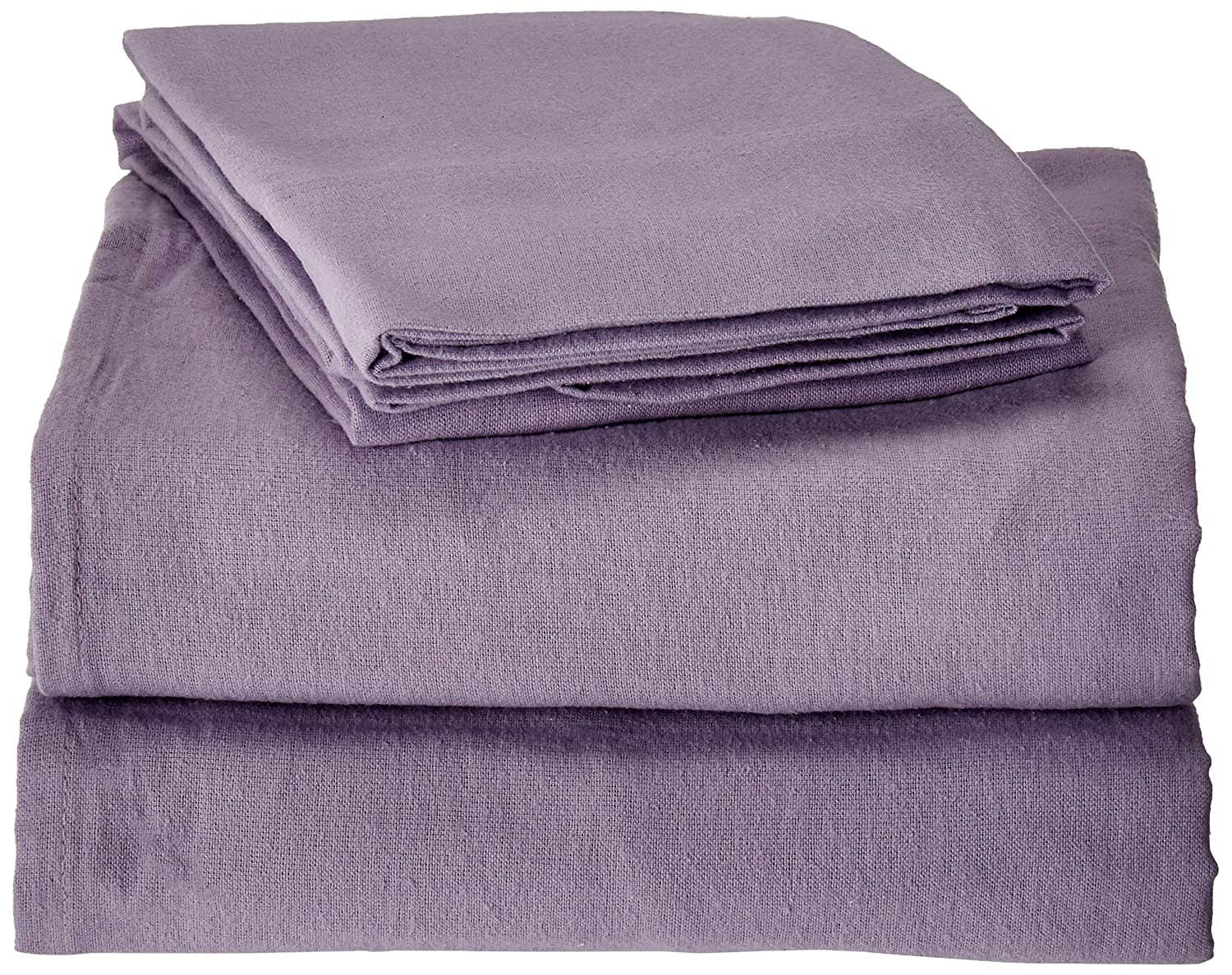 Tribeca Living Luxury Solid Flannel Deep Pocket Sheet Set, Dark Purple, Twin X-Large Marwah Corp FLSOEDTWXPU