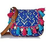 Kanvas Katha Women Sling Bag (Blue)(KKMTRI004)