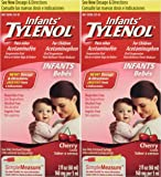Infants Tylenol, Cherry, 2 floz (Pack of 2)
