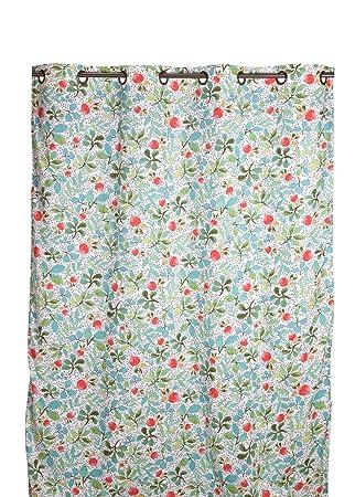 Comptoir de Famille 160760 Rideau Réversible Coton Multicolore 150 x ...
