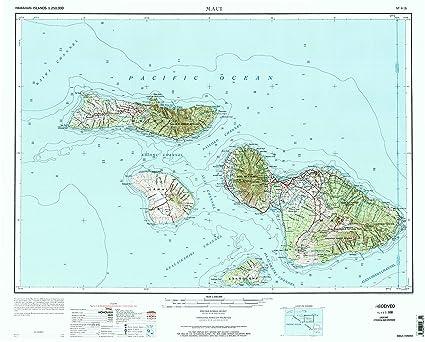 Amazon Com Yellowmaps Maui Hi Topo Map 1 250000 Scale 1 X 2