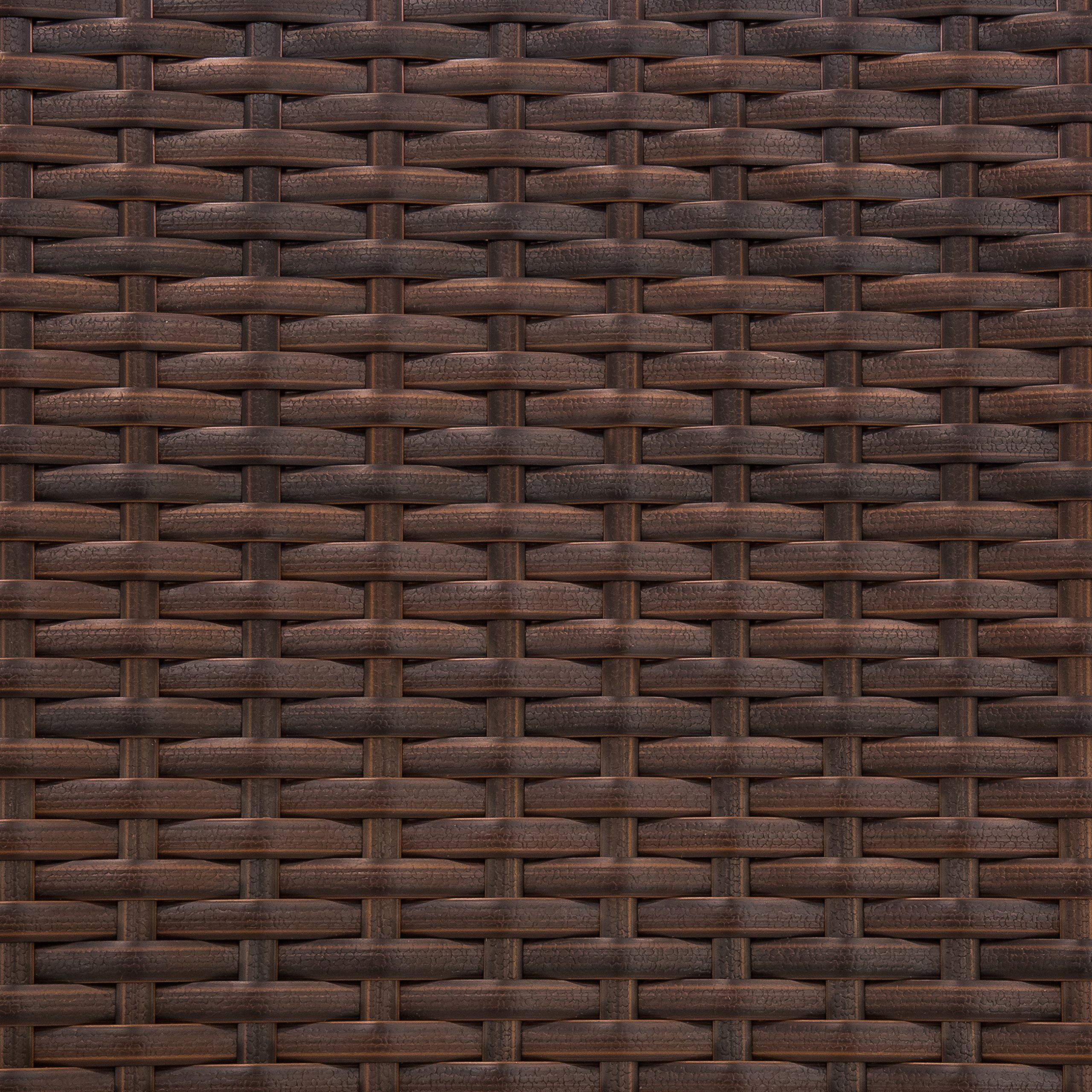 Best Choice Products Set of 2 Modern Contemporary Wicker Patio Dining Chairs w/Water Resistant Cushion - Brown by Best Choice Products (Image #5)