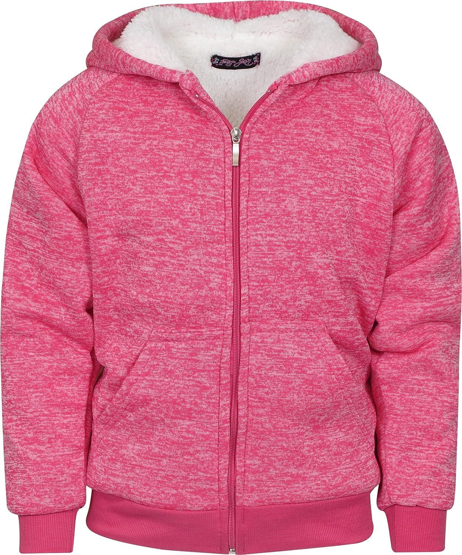 Real Love Girls Fleece Full-Zip Hooded Sweatshirt with Sherpa Lining