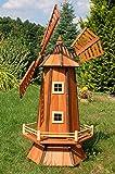 Windmühle, Garten Windmühle, Holz Windmühlen, imprägniert, Kugelgelagert, 1.3 m