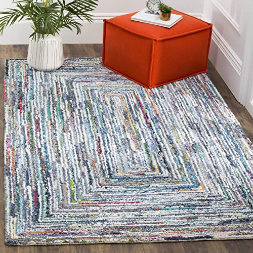 Safavieh Nantucket Collection NAN215A Handmade Multicolored Cotton Area Rug 5 x 8