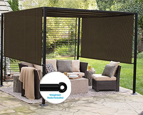 Patio Outdoor Shade Universal Replacement Pergola Canopy Cover 9'x39' Brown