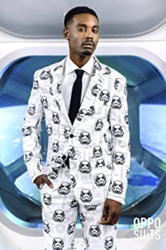 OppoSuits Star Wars™ Suit – Official Stormtrooper™ Costume Comes with Pants, Jacket and Tie