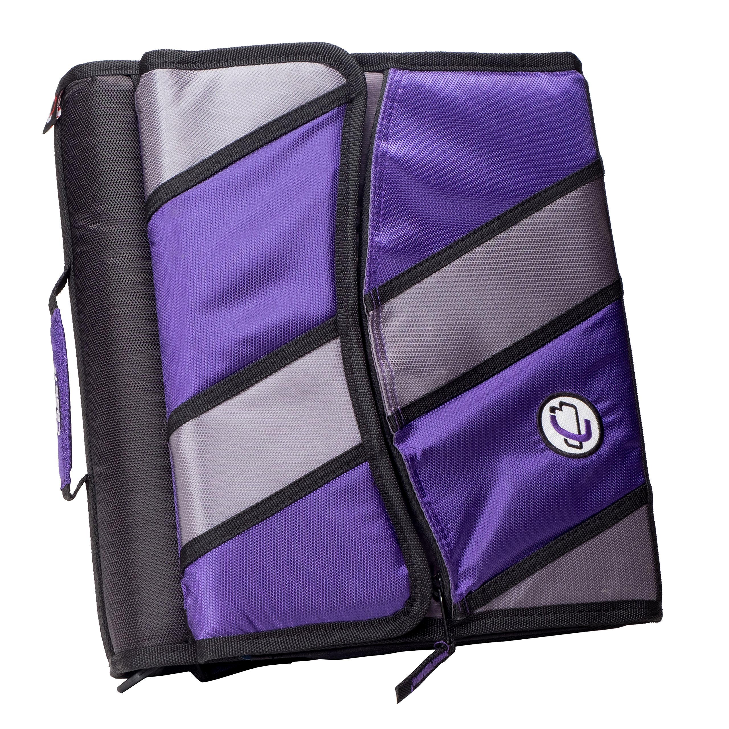 Case-it Sidekick 2-Inch O-Ring Zipper Binder with Removable Tab File, Purple, D-901-PUR