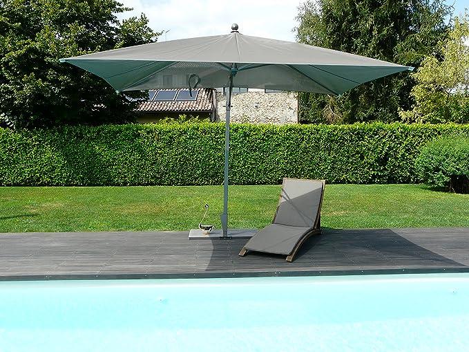 Maffei Art 167R Piscina Rectangular para sombrilla cm 300 x 200, Tela BATYLINE, Marco de ALU Bastones de Lado. Fabricado en Italia.
