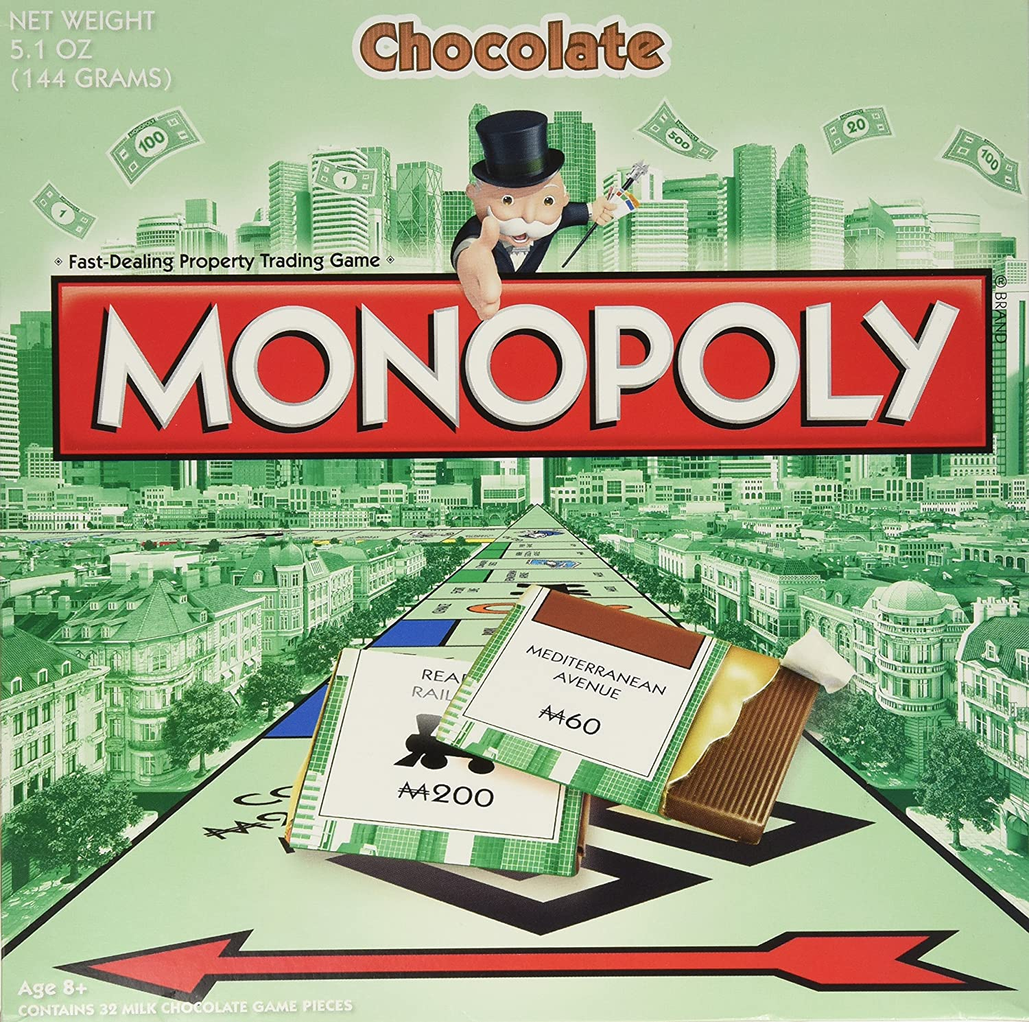 Amazon.com : Monopoly Chocolate Editions of Hasbro Games Monopoly ...