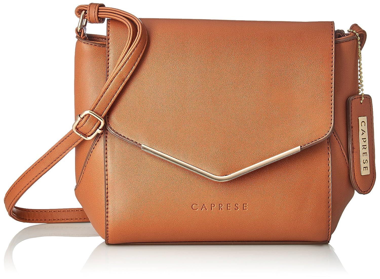 Buy Caprese Yondella Women S Sling Bag Saddle At Amazon In