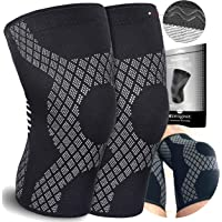 Knee Compression Sleeves (Pair) For Arthritis-Knee Support Braces For Joints Pain -Ligament Injury -Meniscus Tear -Acl…