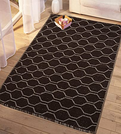 Saral Home Cotton Soft Multi Purpose Floor Rugs -90x130 cm