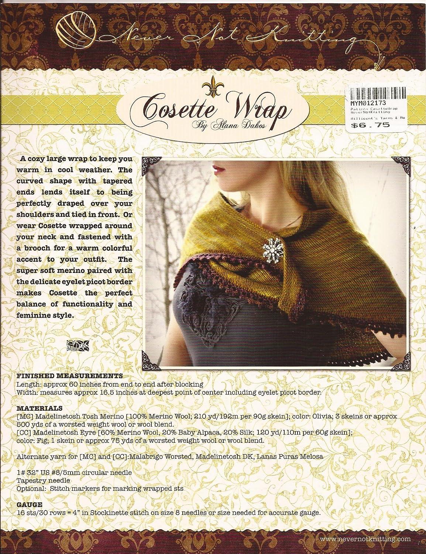 9e30b08500a Amazon.com  Cosette Wrap - Alana Daskos - Never Not Knitting Pattern  Arts