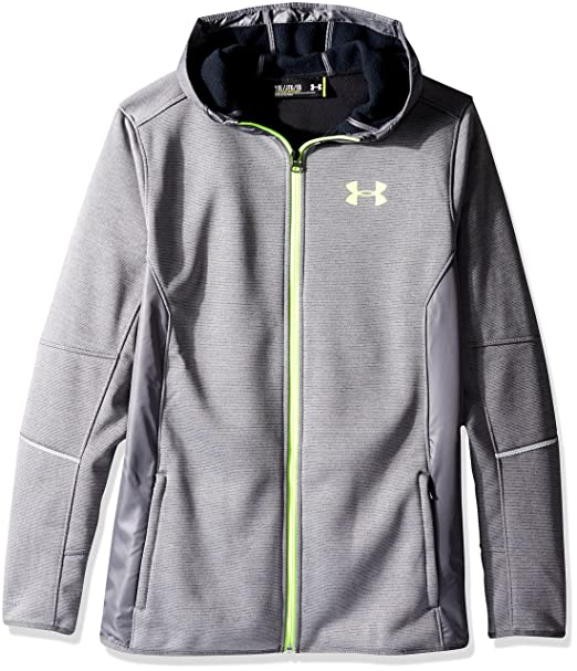 reputable site 49326 c2174 Under Armour Boys  Swacket FZ, Graphite Fuel Green, Youth Small