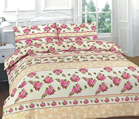Misure Standard Copripiumino Letto Matrimoniale.Romantico Roses Pink Set Copripiumino Piumone Copripiumino 2