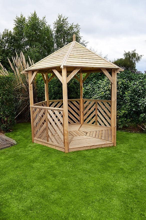 Home Gift Garden HGG – Abierto Gazebo – Carpa – Cenadores de Madera y pérgolas – Patio al Aire Libre Muebles de jardín de Madera Maciza: Amazon.es: Jardín