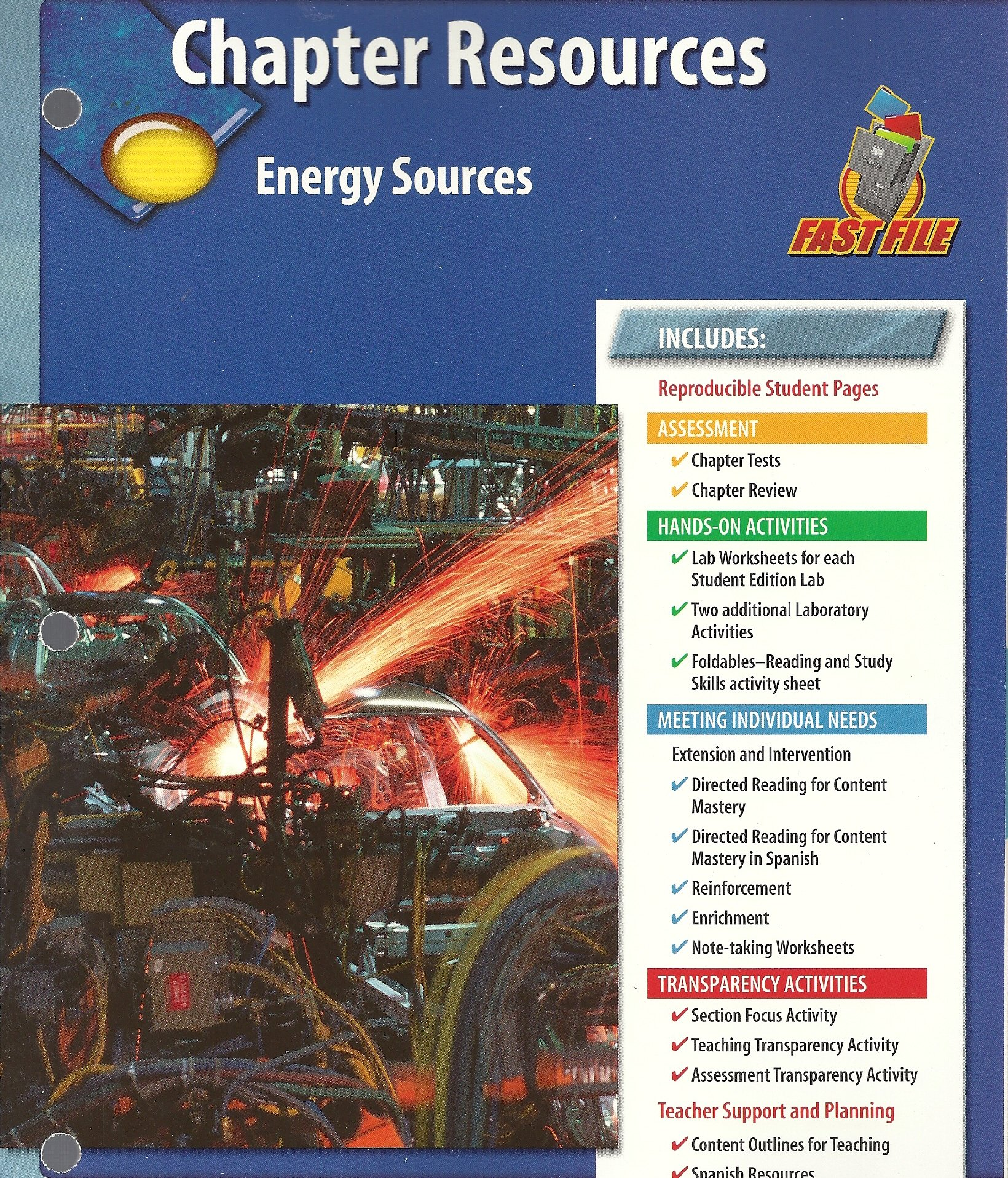 Chapter Resources, Energy Sources: Glencoe: 9780078671722: Amazon ...